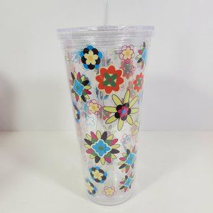 24 oz. Double Wall Tumbler with Straw